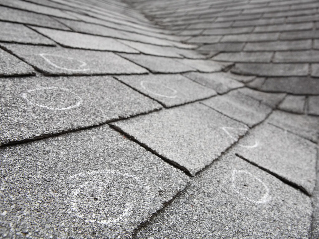 Sever hail damage to roof